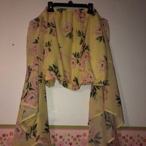 Cute yellow off the shoulders shirt